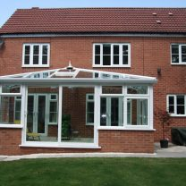brick dwarf wall conservatory french doors Wye Valley