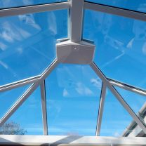 Conservatory active blue solar controlled glass Hereford