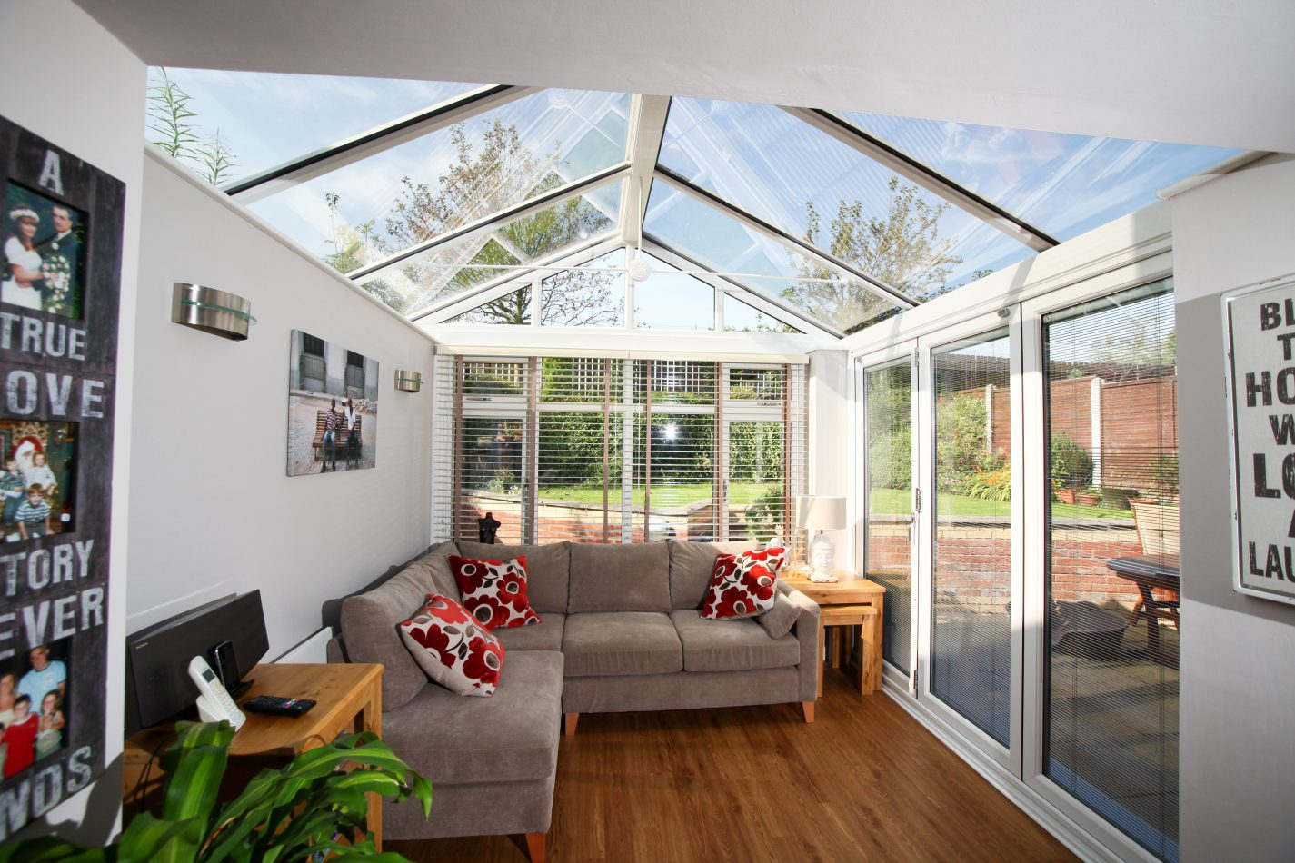 full height glass extension extra room