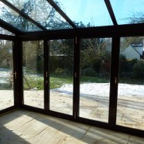 Full height conservatory creating extra room, Hereford